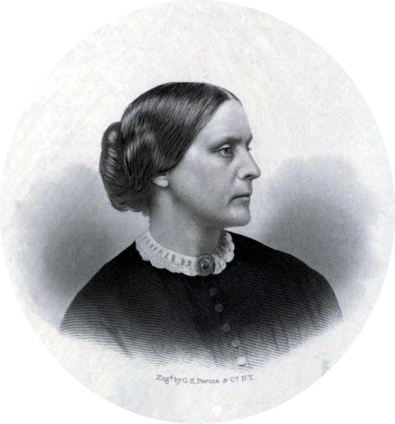 Susan B Anthony c1855