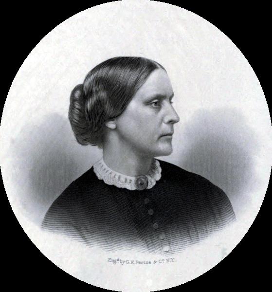 Susan B Anthony c1855