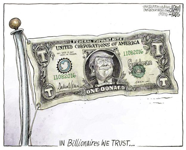 Adam Zyglis Buffalo News Billionaires We Trust