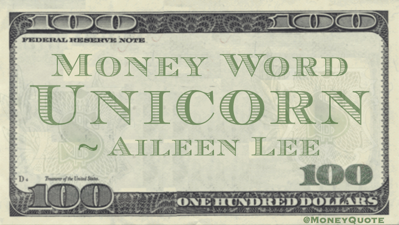 Unicorn Money Word Quote