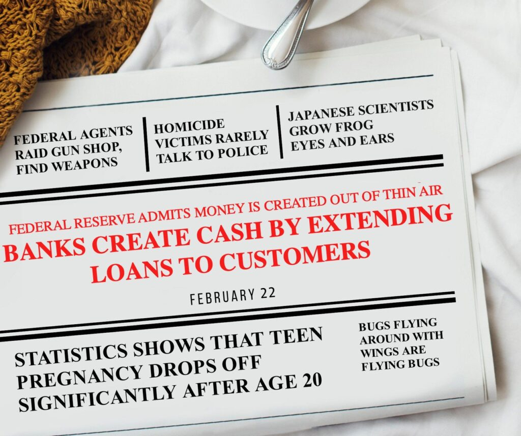 Banks Create Cash Making Loans Headlines