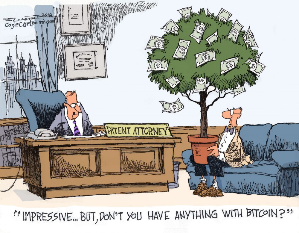 Bill Schorr Patent Attorney Money Tree Bitcoin