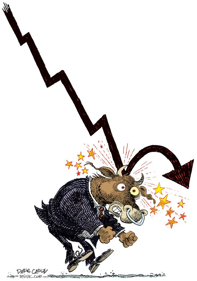 Daryl Cagle Stock Market Bull