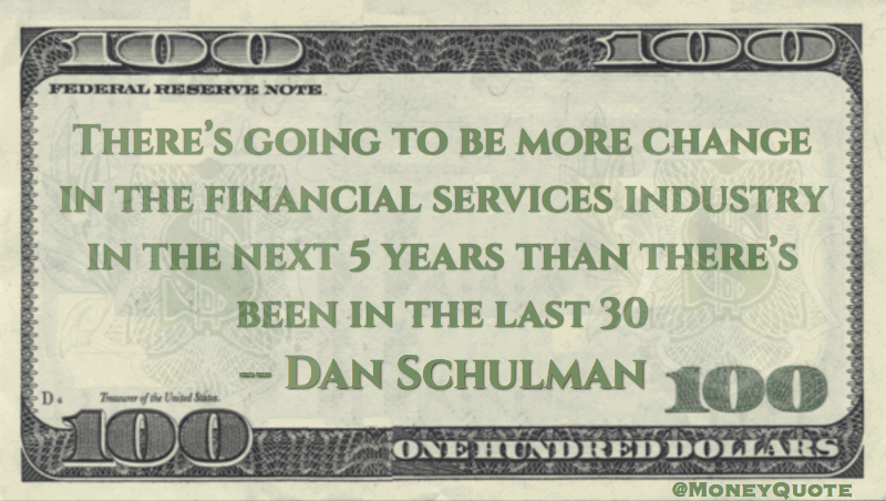 Dan Schulman Change Financial Services