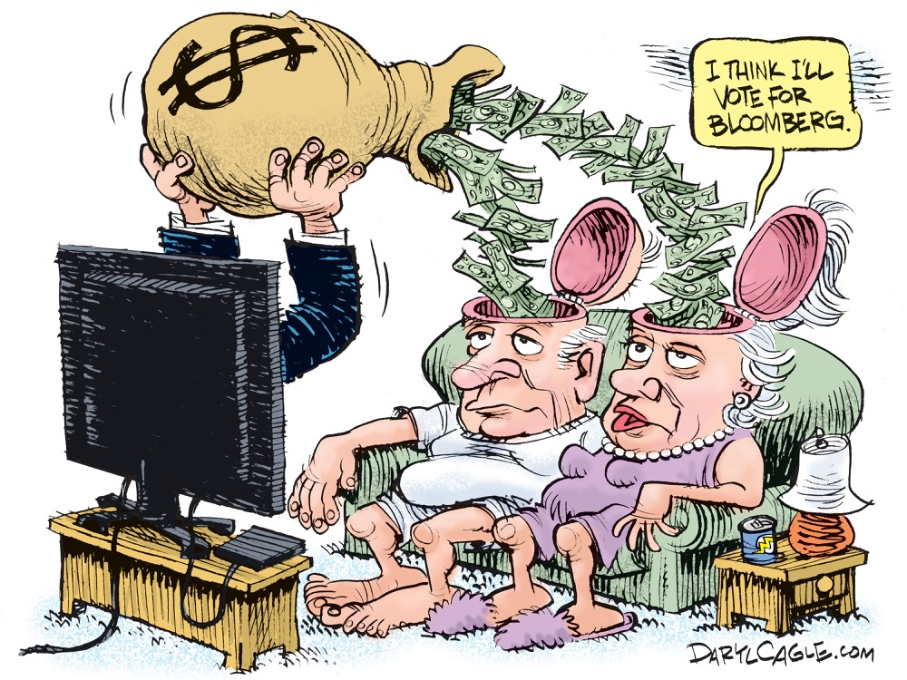 Daryl Cagle Bloomberg TV Spending Cartoon