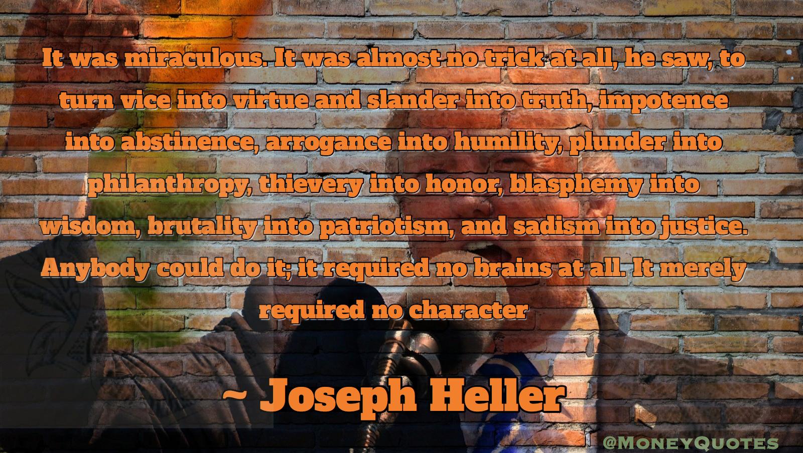 Joseph Heller IG Plunder Philanthropy Thievery Honor