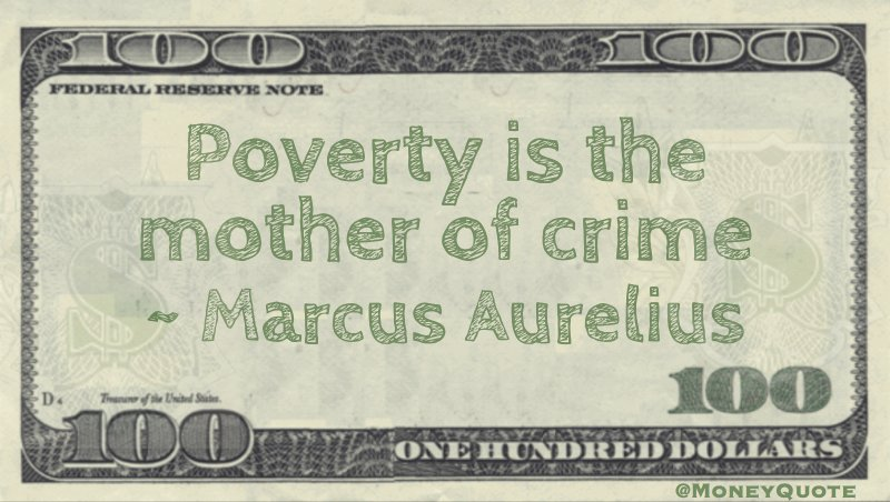 Poverty is the mother of crime Quote