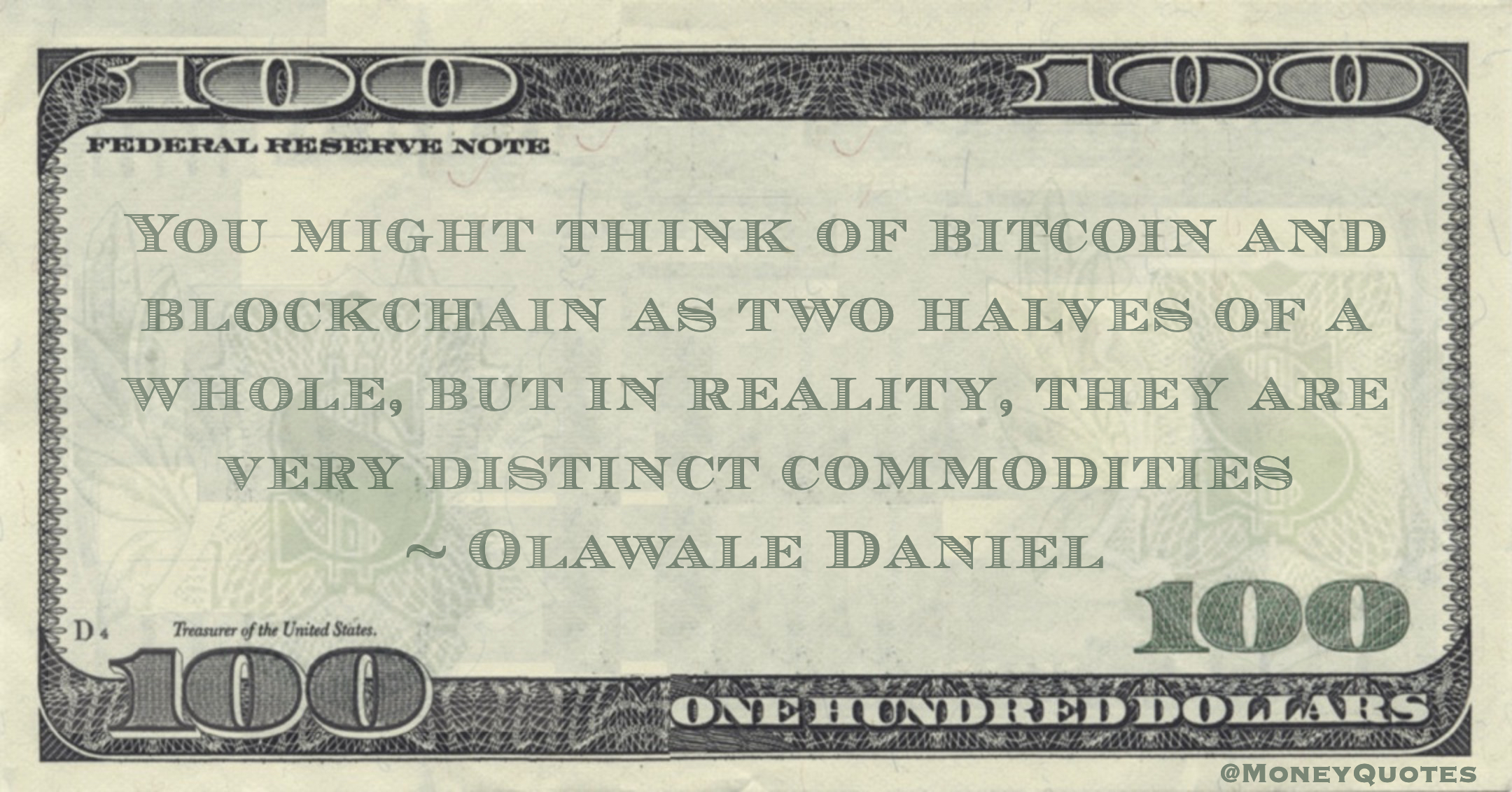 You might think of bitcoin and blockchain as two halves of a whole, but in reality, they are very distinct commodities Quote