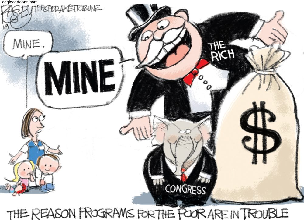Pat Bagley Moneybags Rich Tax Cuts