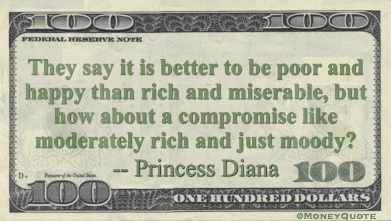How about a compromise like moderately rich and just moody Quote