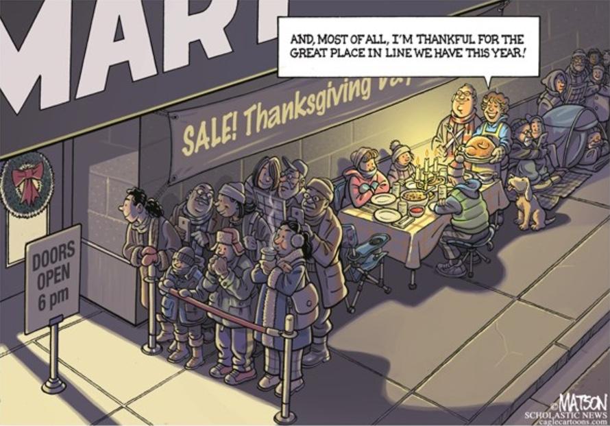 RJ Matson CagleCartoons Thanksgiving
