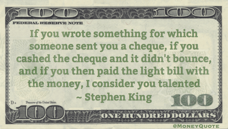 Wrote something Paid Check Light Bill consider you Talented Quote