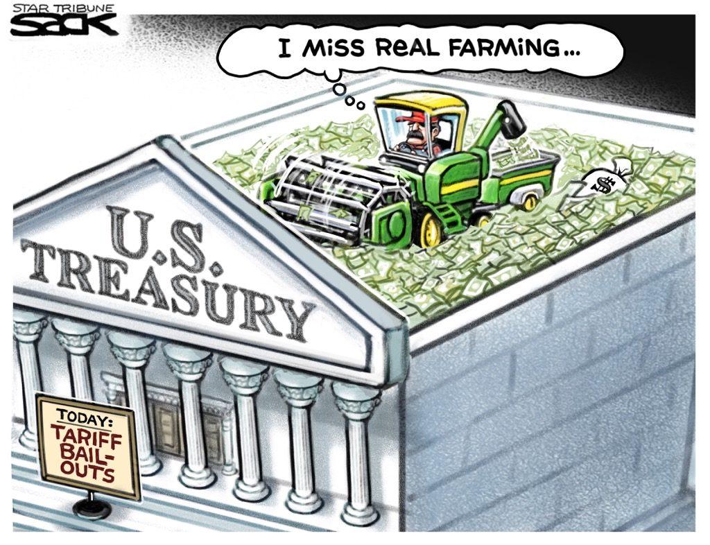 Steve Sack Tariff Bailouts Treasury
