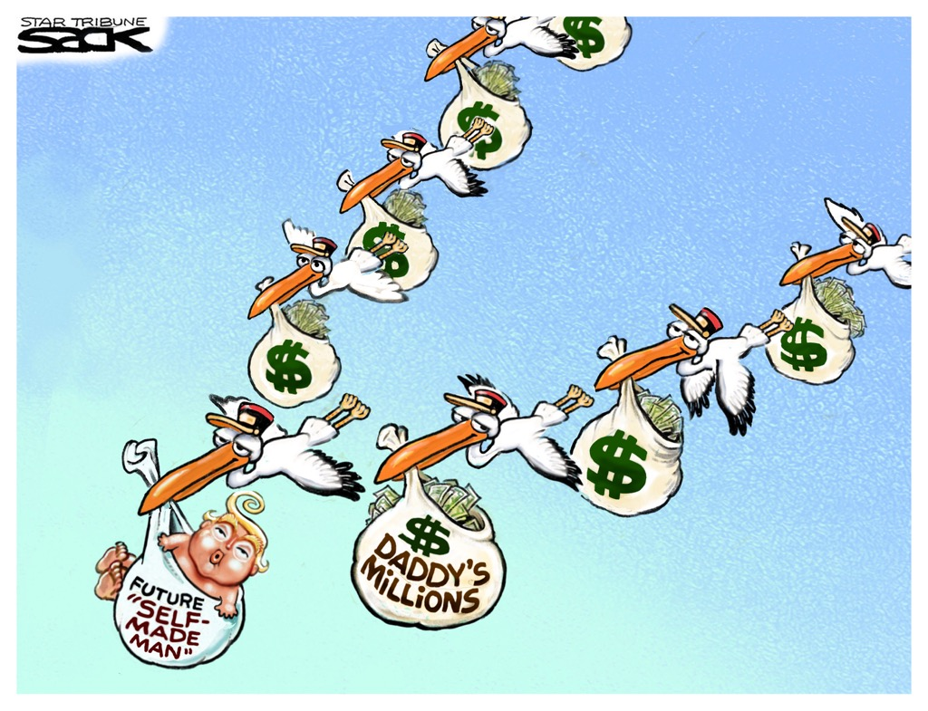 Steve Sack Trump Daddys Millions