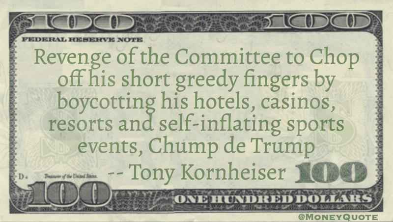 Tony Kornheiser Chop Greedy Fingers Boycotting