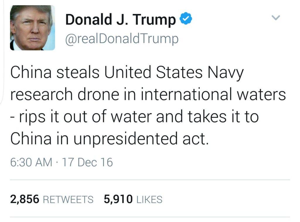 Trump Unpresidented Tweet