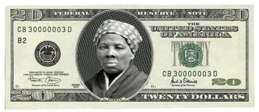 Harriet Tubman on a 20 Dollar bill