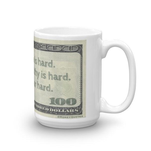 Becoming Wealthy is Hard coffee mug