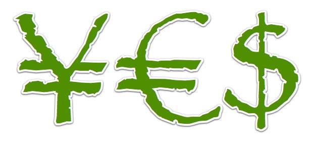 Yen-Euro-Dollar ¥€$